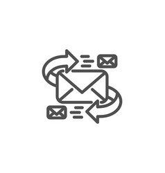 mail line icon communication by letters sign vector image vector image