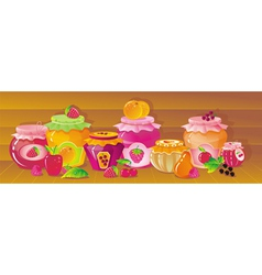 shelf with berries vector image vector image