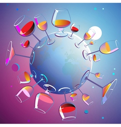 Wines planet vector image vector image