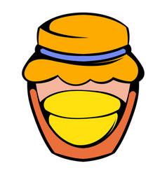 Bank with honey icon icon cartoon vector