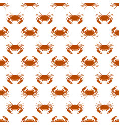 boiled sea red crab with giant claws seamless vector image vector image