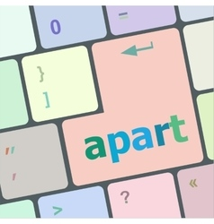 computer keyboard with the print Apat It on a vector image