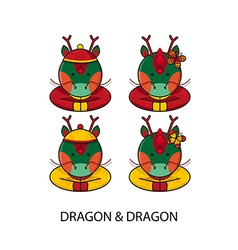 Dragon Chinese vector image