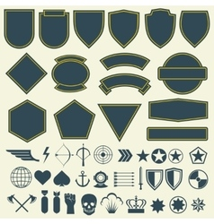 elements for military army patches badges vector image vector image