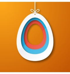 Paper egg vector image vector image