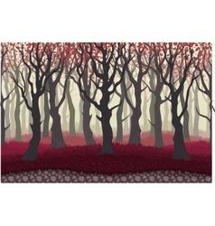 Parallax cartoon misterious forest landscape vector