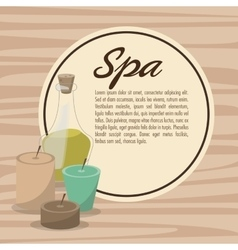poster spa therapy lotion oil herbal candles vector image