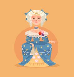 queen woman character vector image vector image