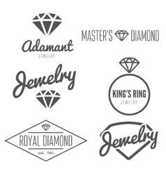 Set of logo emblem label print sticker or vector image