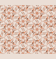 abstract seamless pattern circular ornament swirl vector image