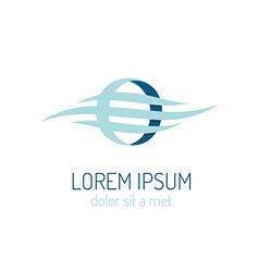 Corporate identity logo template Elegant business vector image