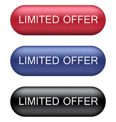 limited offer buttons vector image vector image