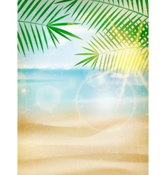 Vintage seaside view poster vector image vector image