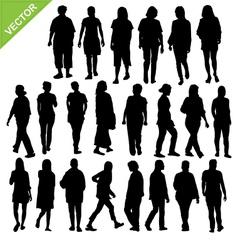 Women silhouette vector image vector image