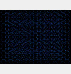 abstract blue futuristic honeycomb cell pattern vector image