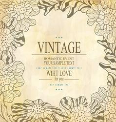 brown congratulation vintage background vector image vector image