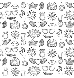 Fashion Patches Seamless Pattern vector image vector image