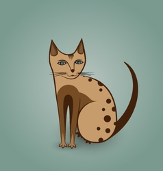Nice kitty cat vector image