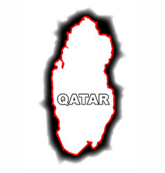 outline map of qatar vector image vector image