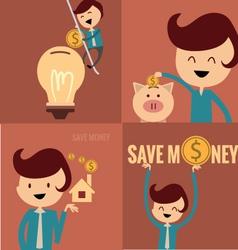 piggy bank concept money savings set vector image