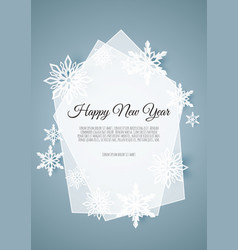abstract winter design with snowflakes and space vector image