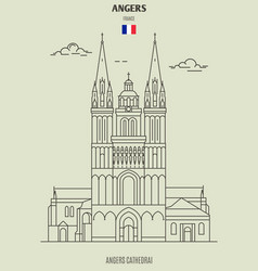 Angers cathedral in vector