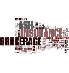 Ash brokerage text background word cloud concept vector