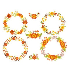 Autumn Wreath Set vector image