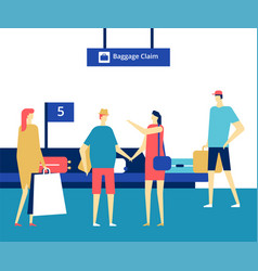 Baggage claim at airport - flat design style vector