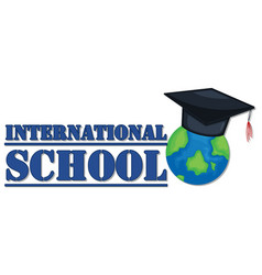 Banner design for international school vector