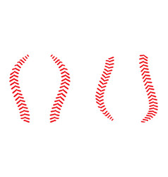 baseball laces vector image