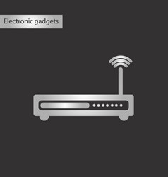 Black and white style icon wi fi modem vector