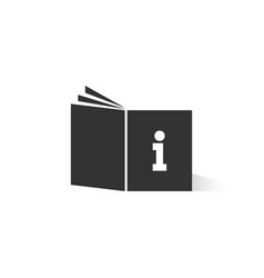 Black tutorial book logo with shadow vector