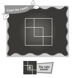 BW Count the squares vector image
