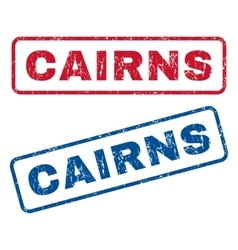 Cairns Rubber Stamps vector image