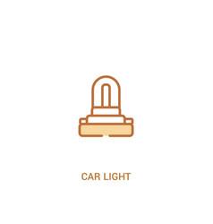 Car light concept 2 colored icon simple line vector