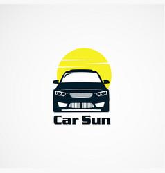 Car sun logo designs simple concept icon element vector