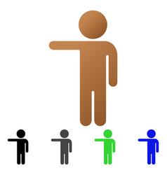 Child show flat gradient icon vector