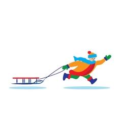 Children Winter C vector image
