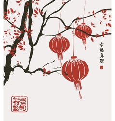China lantern vector image