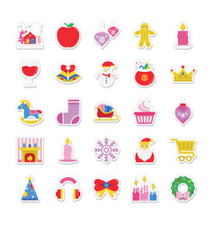 Christmas and celebration colored icons 3 vector