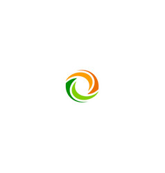 Circle round colorful curve logo vector