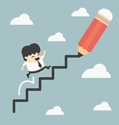 Climbing ladder success vector