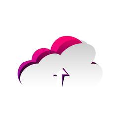 cloud technology sign detachable paper vector image
