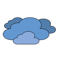 Clouds weather sky night scene vector