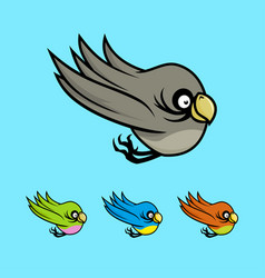 colored cartoon birds vector image