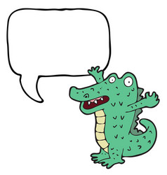 digitally drawn crocodiles and speech bubbles vector image