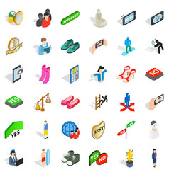 doll icons set isometric style vector image vector image