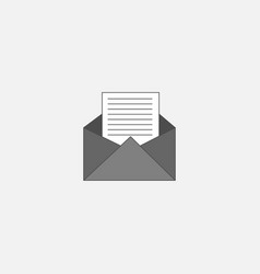envelope symbol icon for web in trendy style vector image