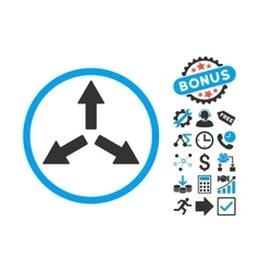 Expand Arrows Flat Icon with Bonus vector image
